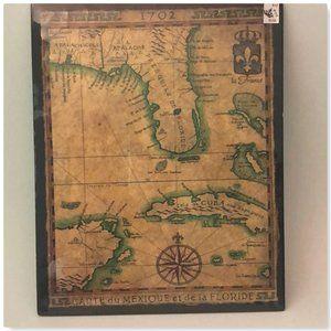 Florida Map Art 15 x 12 NEW